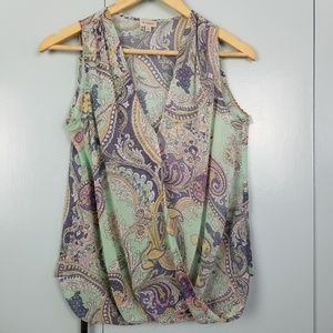 Cremieux printed sleeveless top size XS -Y3